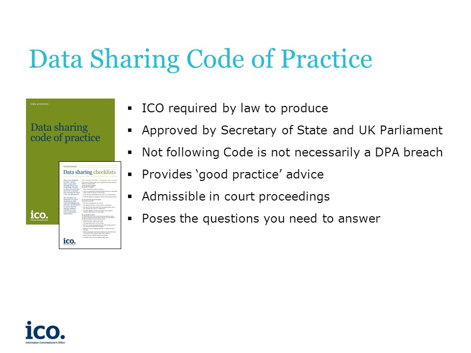 Data Sharing Code of Practice