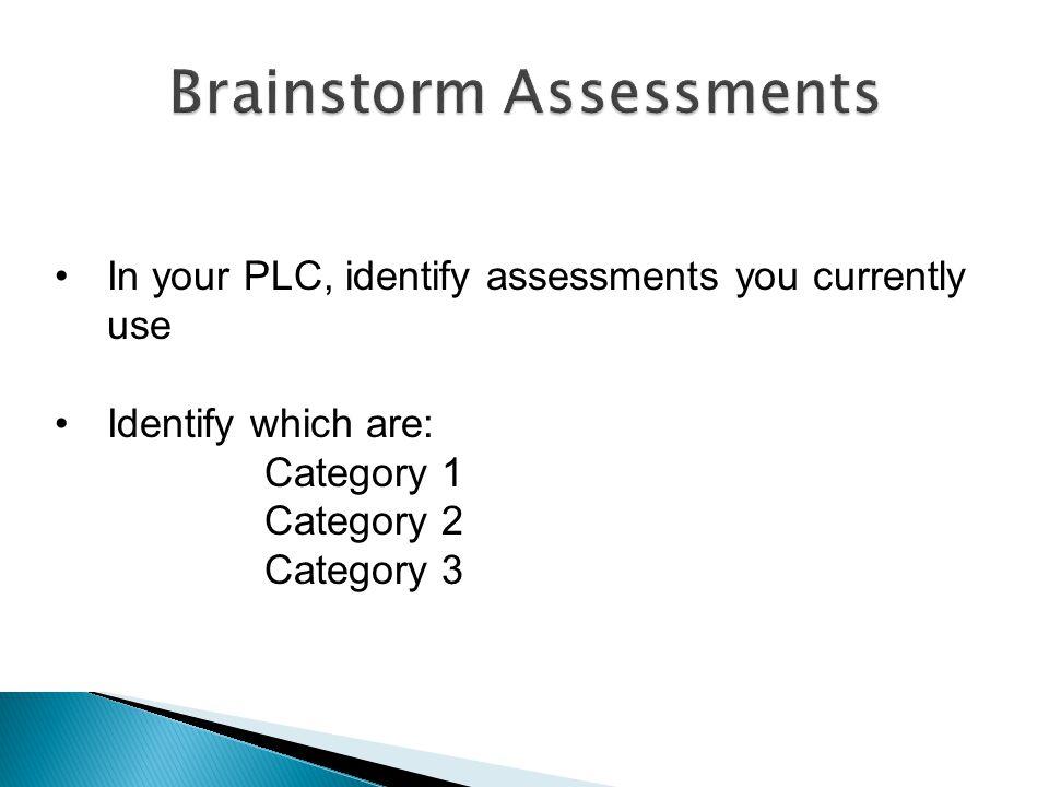 Brainstorm Assessments