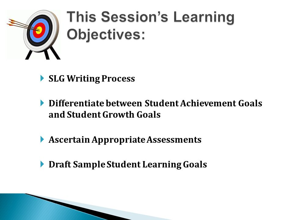 This Session's Learning Objectives: