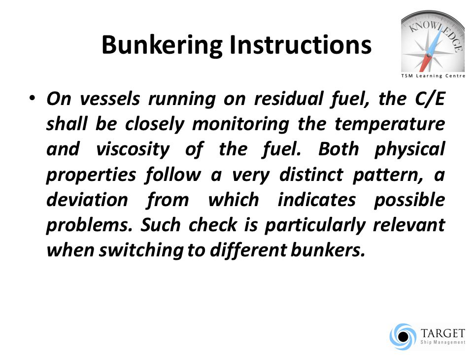 Bunkering Instructions