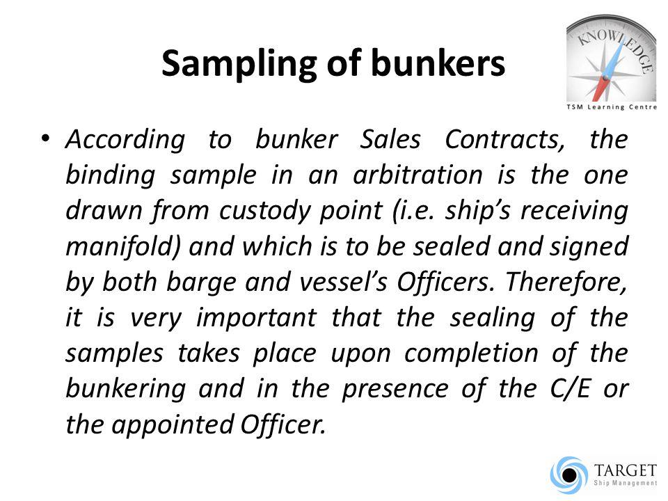 Sampling of bunkers
