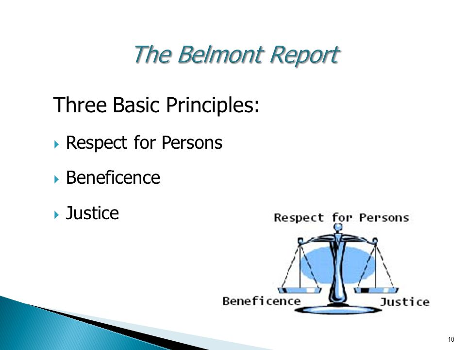 The Belmont Report Three Basic Principles: Respect for Persons