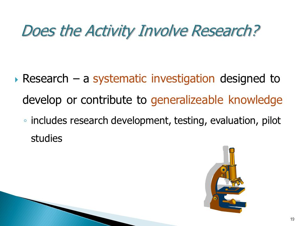 Does the Activity Involve Research