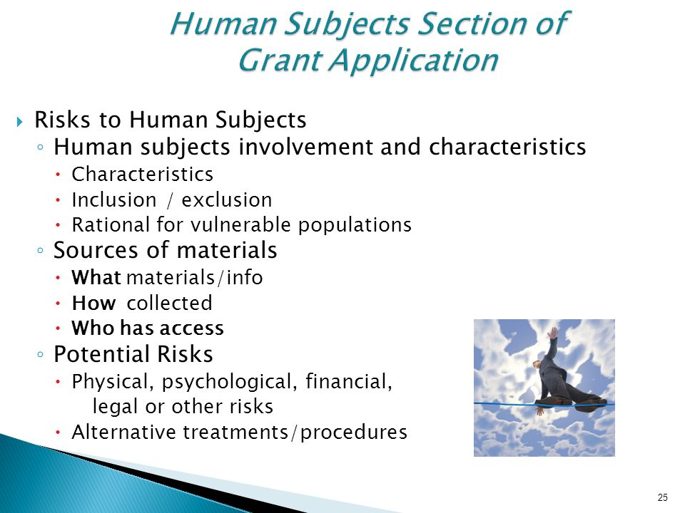 Human Subjects Section of Grant Application