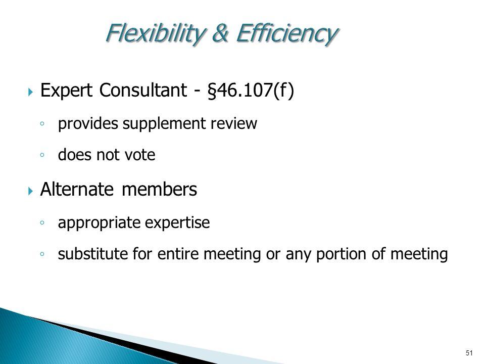Flexibility & Efficiency