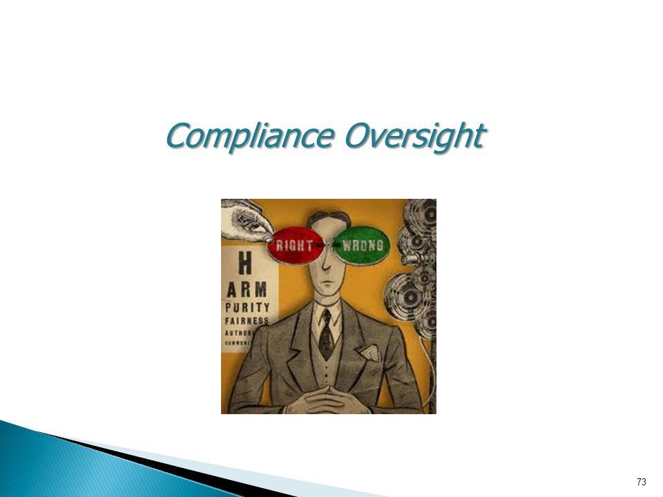 Compliance Oversight 73