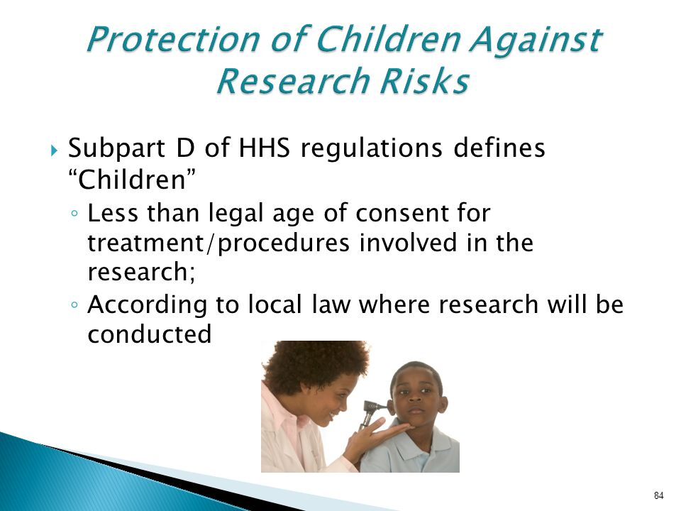 Protection of Children Against Research Risks