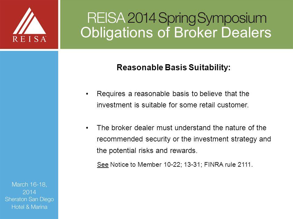 Reasonable Basis Suitability: