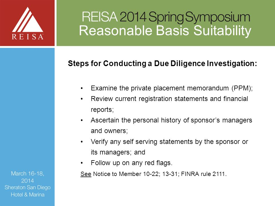 Steps for Conducting a Due Diligence Investigation:
