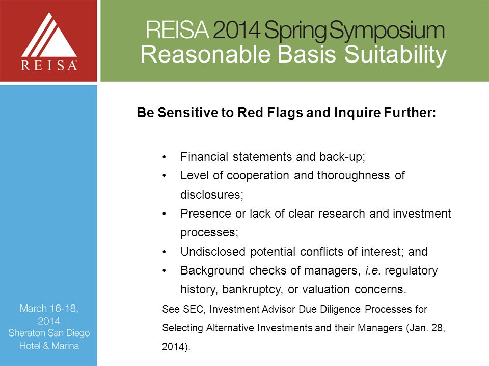 Be Sensitive to Red Flags and Inquire Further: