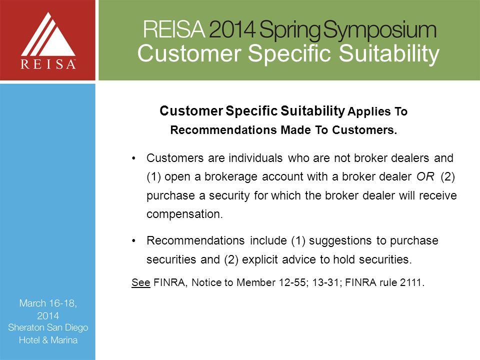 Customer Specific Suitability