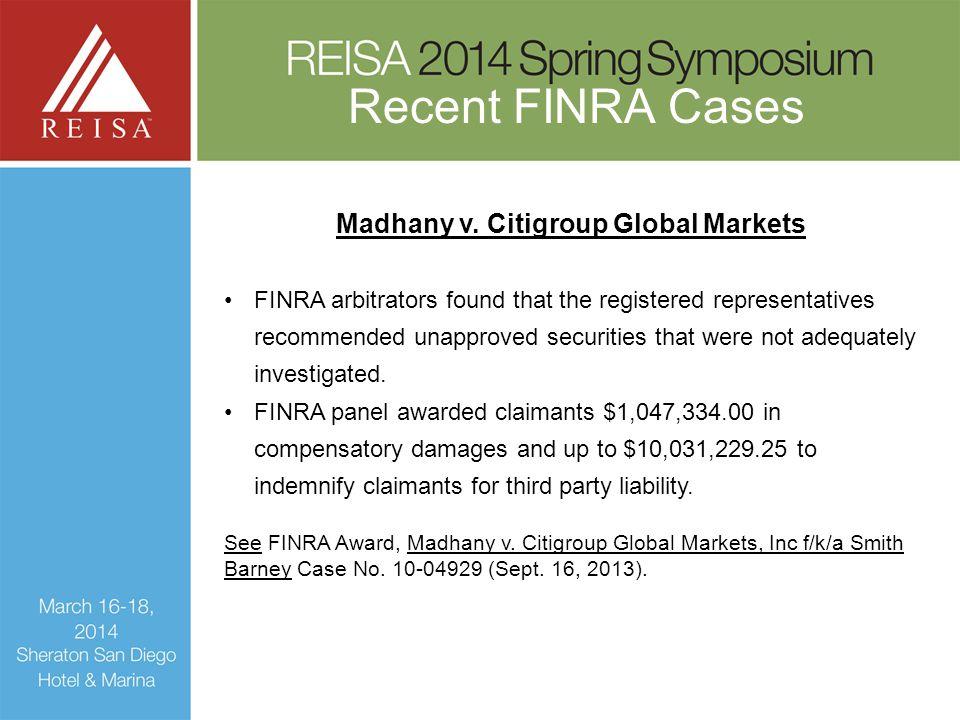 Madhany v. Citigroup Global Markets