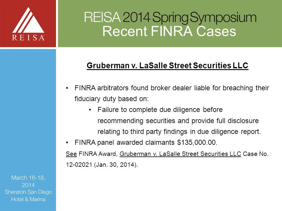 Gruberman v. LaSalle Street Securities LLC
