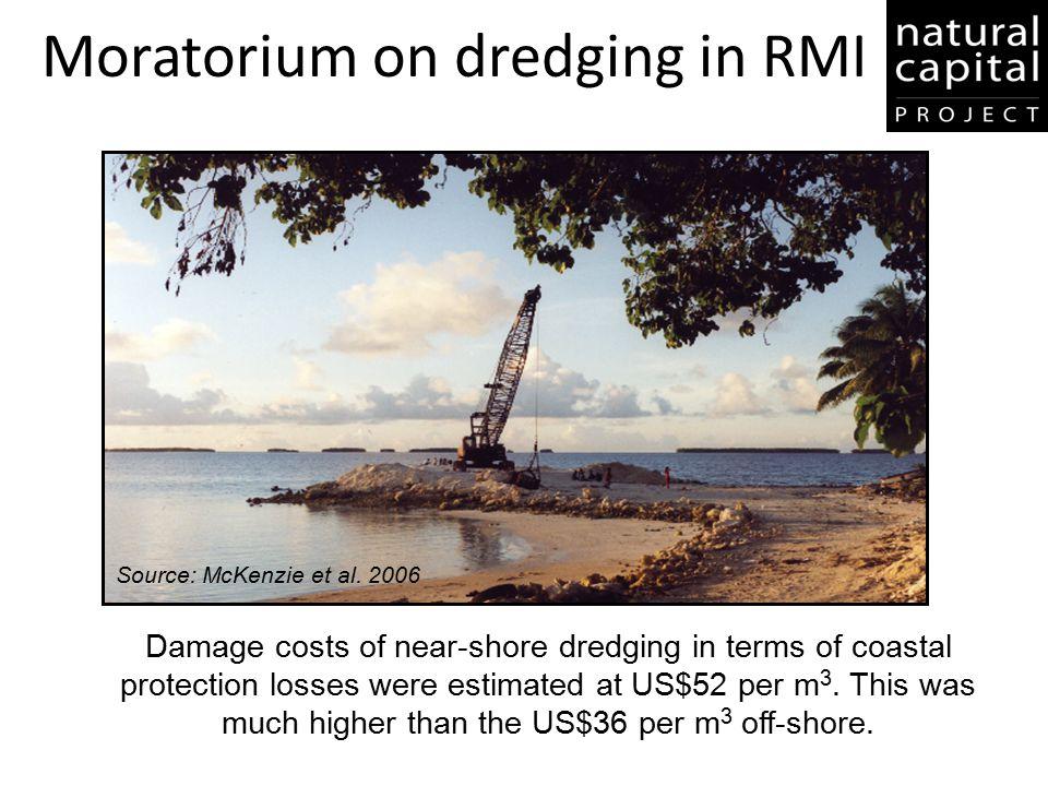 Moratorium on dredging in RMI