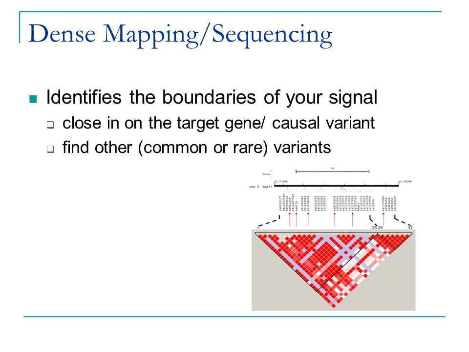 Dense Mapping/Sequencing