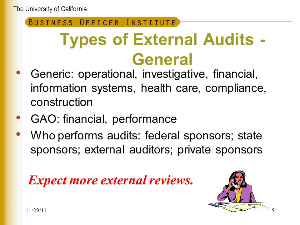 Types of External Audits - General