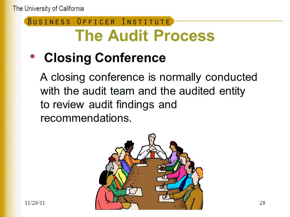 The Audit Process Closing Conference