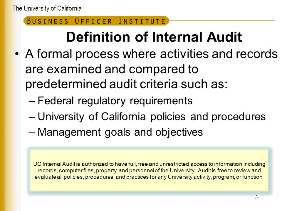 Definition of Internal Audit