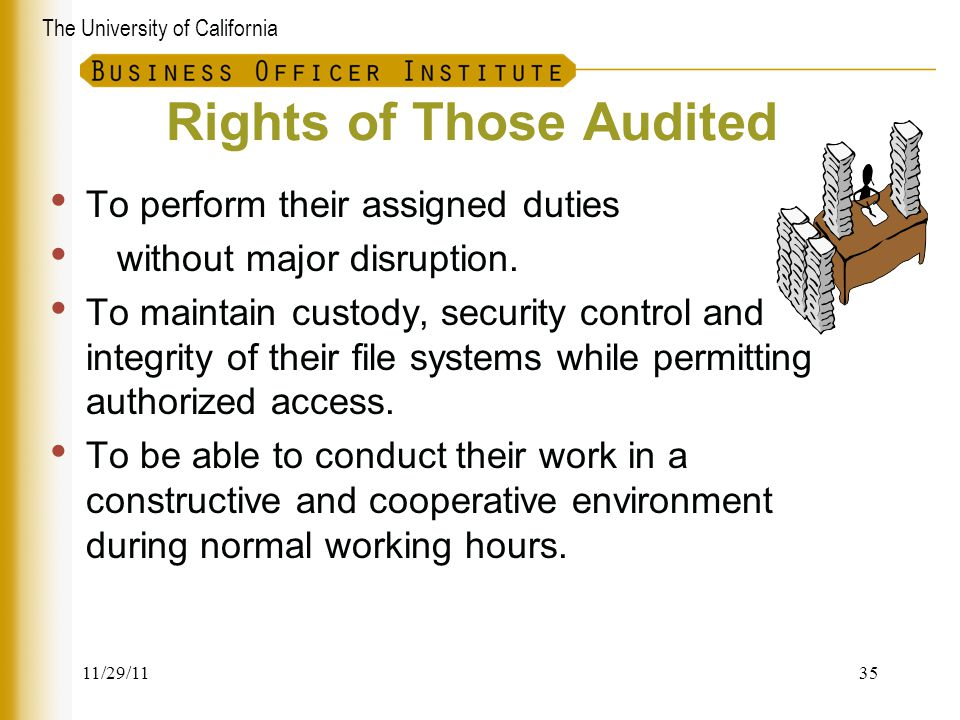 Rights of Those Audited