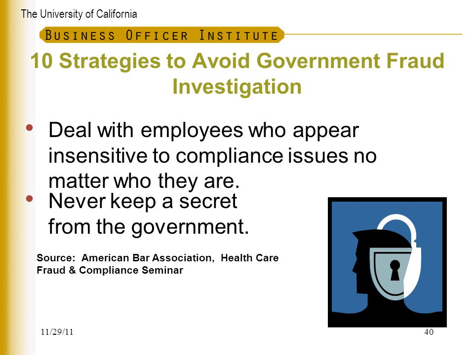 10 Strategies to Avoid Government Fraud Investigation