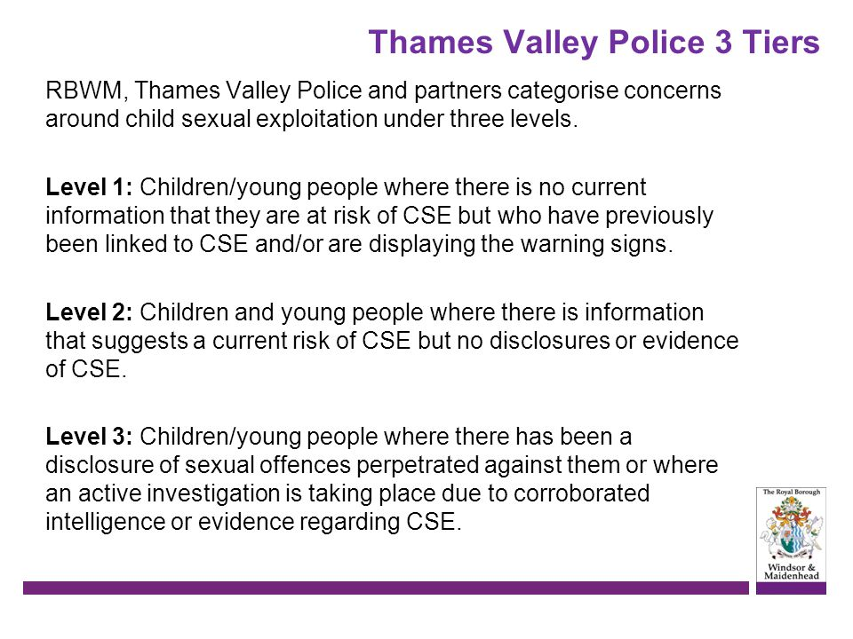 Thames Valley Police 3 Tiers