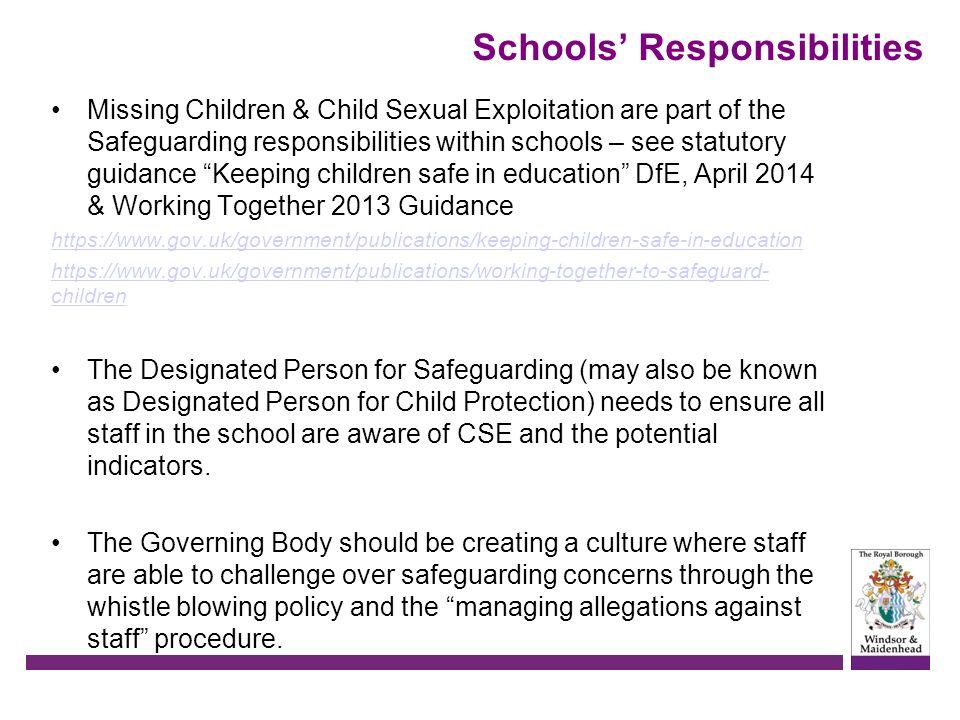 Schools' Responsibilities