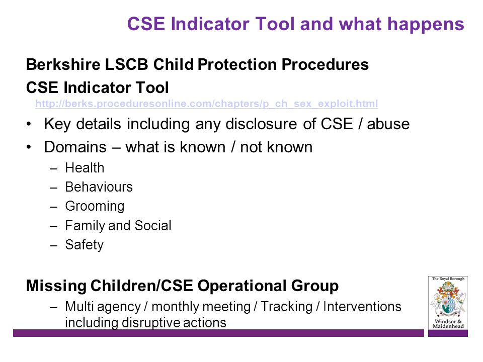CSE Indicator Tool and what happens