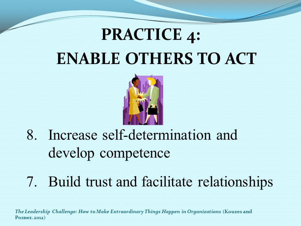 PRACTICE 4: ENABLE OTHERS TO ACT