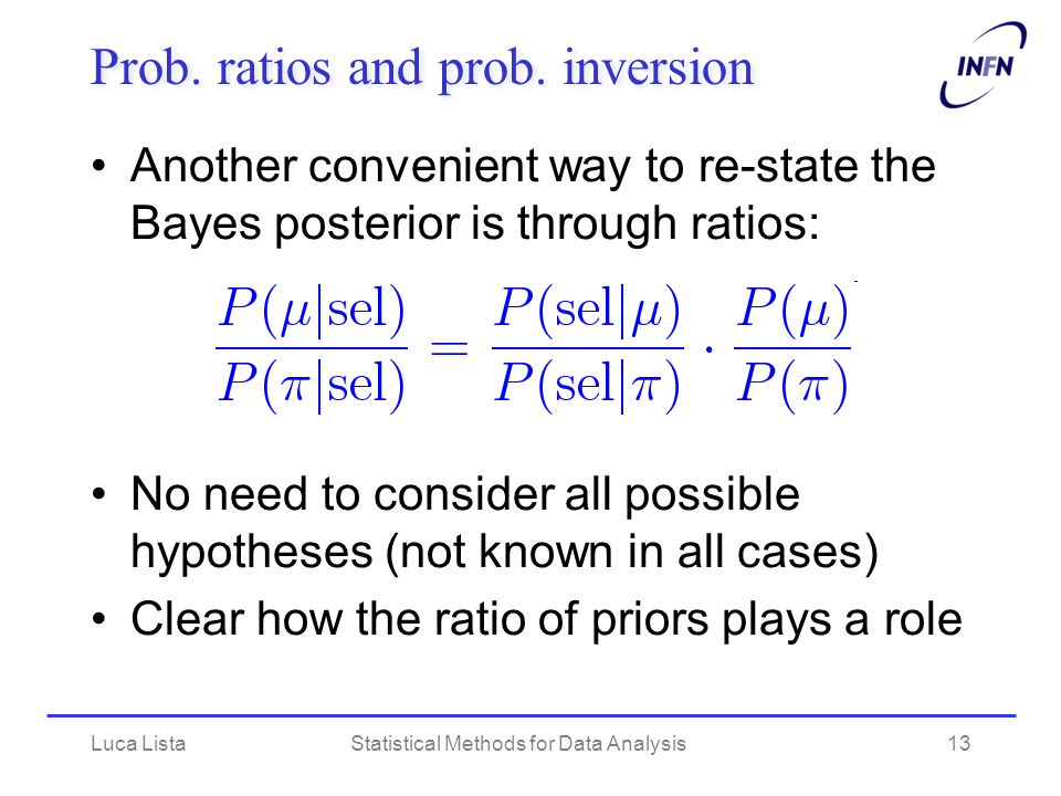 Prob. ratios and prob. inversion