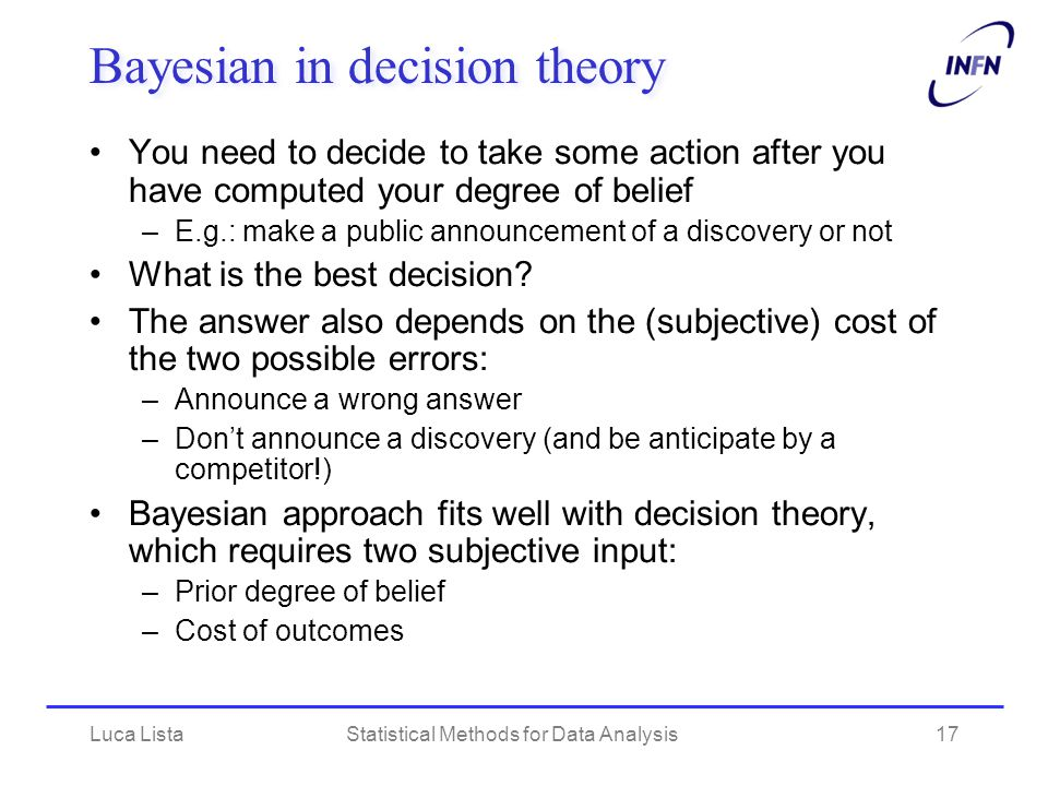 Bayesian in decision theory