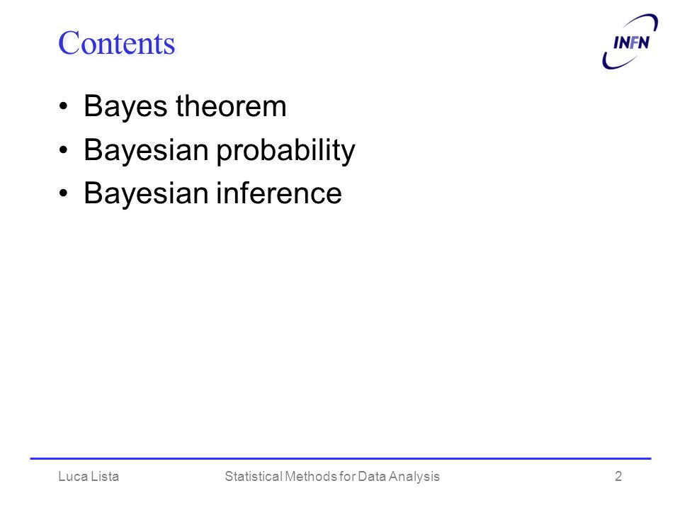 Statistical Methods for Data Analysis