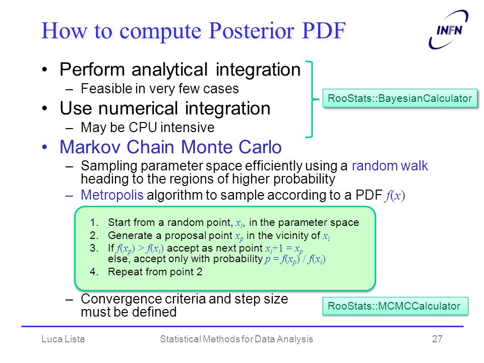 How to compute Posterior PDF
