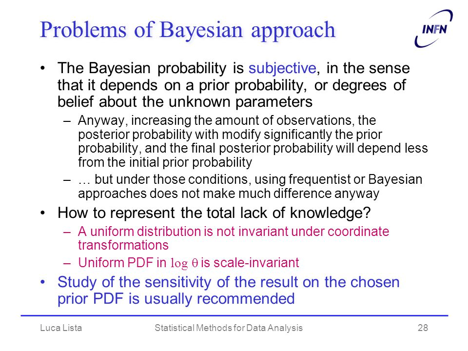 Problems of Bayesian approach