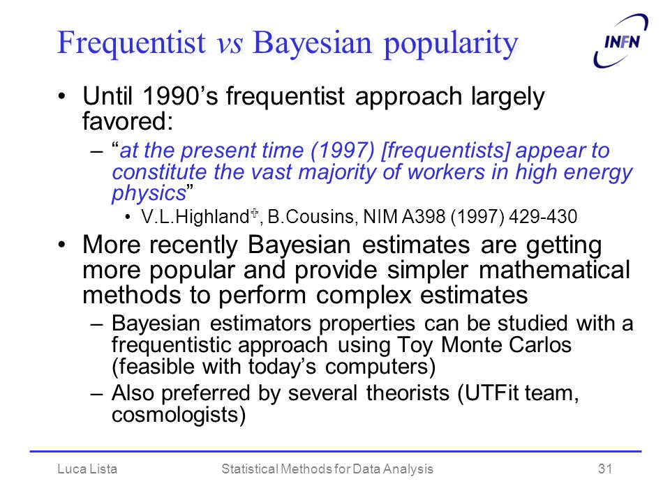 Frequentist vs Bayesian popularity