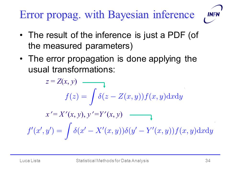Error propag. with Bayesian inference