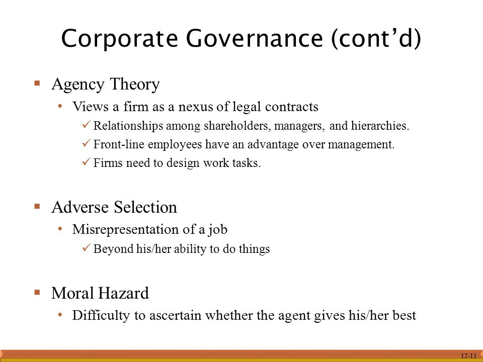 Corporate Governance (cont'd)