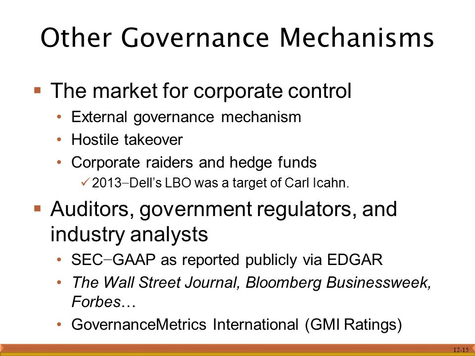 Other Governance Mechanisms