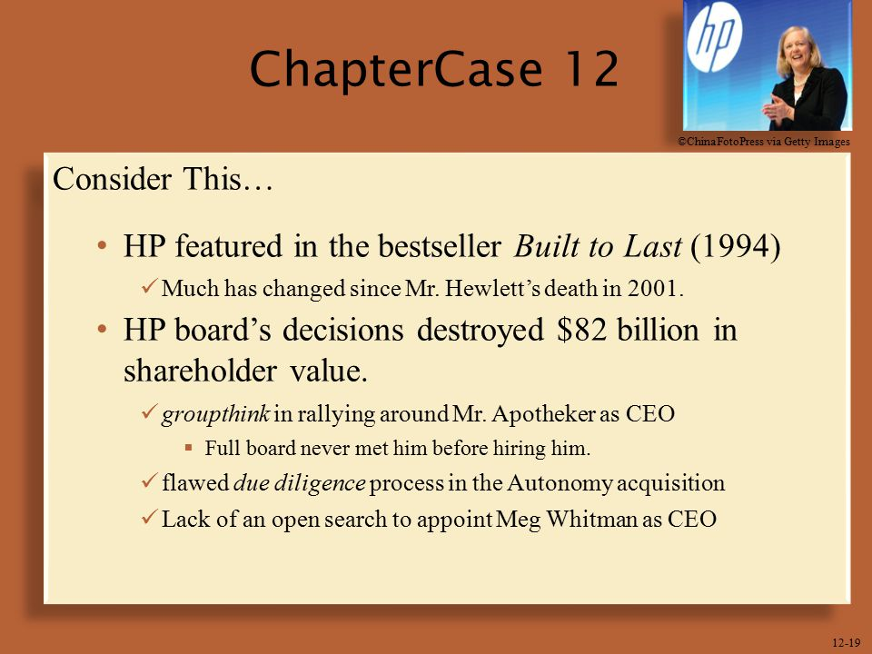 ChapterCase 12 Consider This…