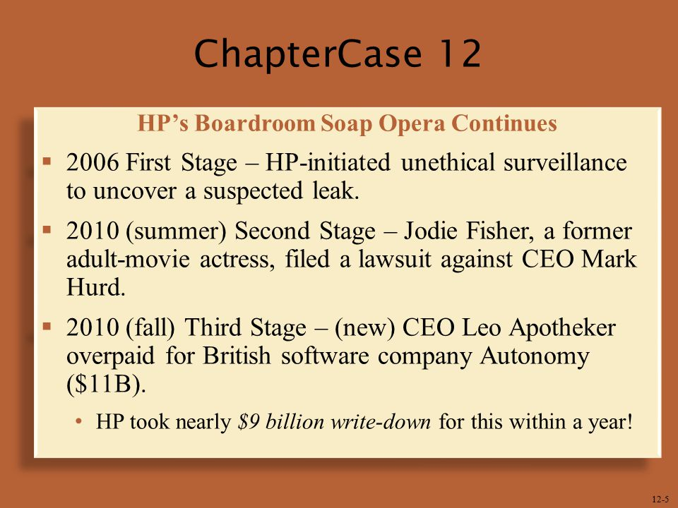 HP's Boardroom Soap Opera Continues