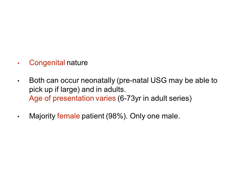 Congenital nature