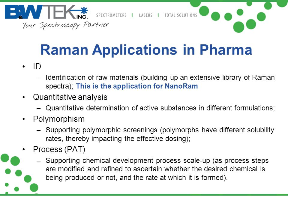 Raman Applications in Pharma