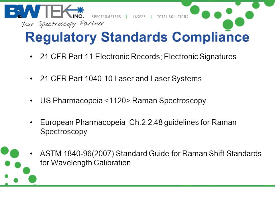 Regulatory Standards Compliance