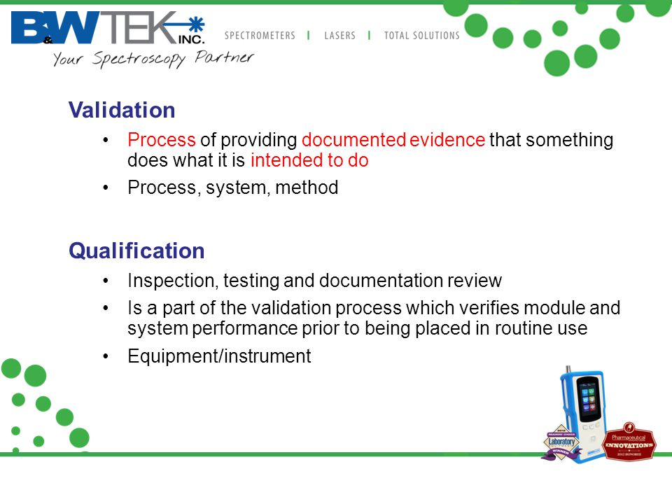 Validation Qualification