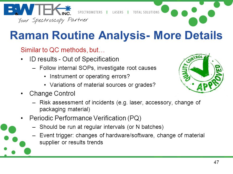 Raman Routine Analysis- More Details