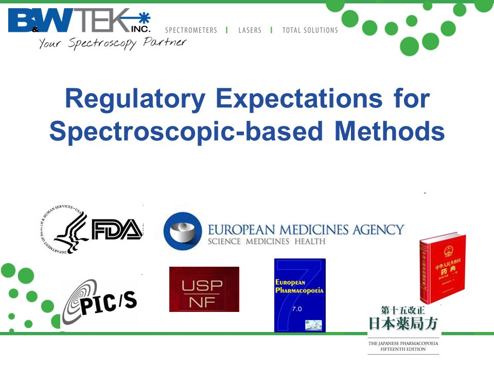 Regulatory Expectations for Spectroscopic-based Methods