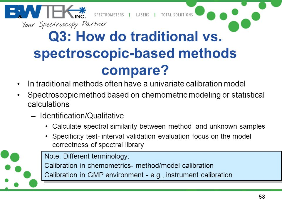 Q3: How do traditional vs. spectroscopic-based methods compare