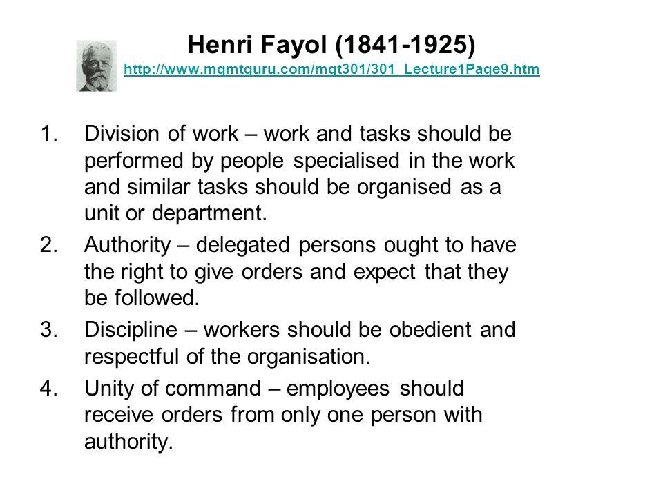Henri Fayol (1841-1925) http://www. mgmtguru