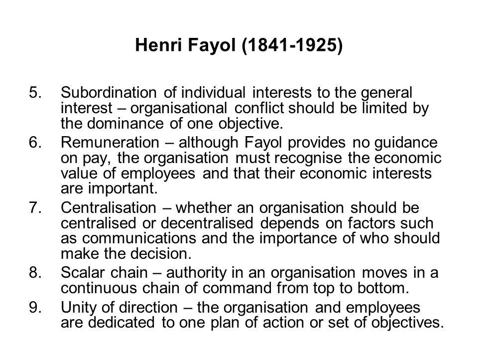 Henri Fayol (1841-1925)