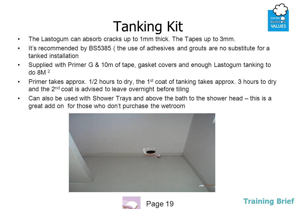 Tanking Kit The Lastogum can absorb cracks up to 1mm thick. The Tapes up to 3mm.