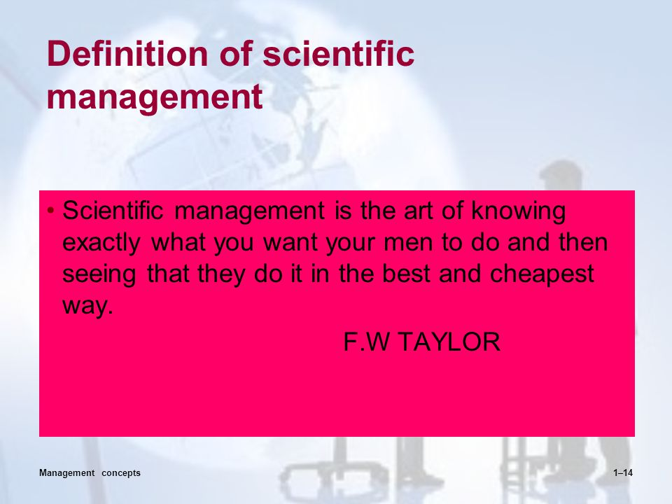 Definition of scientific management